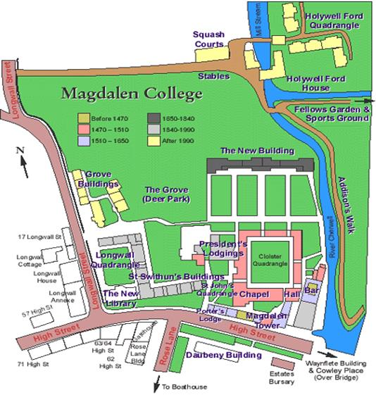 GETTING TO MAGDALEN AND QUEENS COLLEGES OXFORD European Society
